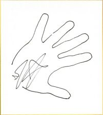 Djz Signed w/ Hand Sketch Shikishi Board Bas Beckett Coa Wwe Nxt Zema Ion Impact