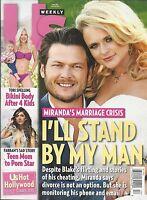 Us Weekly Magazine Miranda Lambert Blake Shelton Tori Spelling Farrah Abraham