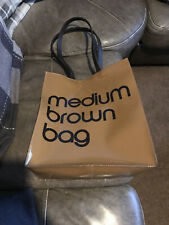 Iconic Bloomingdale's Medium Brown Bag Plastic Shopper Style Tote Bag