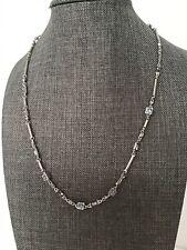 New Kendra Scott Rhett Necklace In Lilac Mix Rhodium Silver