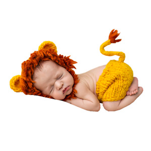 Newborn Baby Girl Boy Lion Crochet Knit Costume Photo Photography Prop Outfits