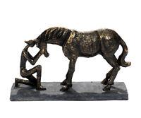 Figur Pferd Deko Statue Pferd Skulptur Bronze Pferdefreund Liebe Tierfigur Horse