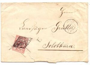 SWITERZLAND c1852 15c USED ON COVER OLTEN TO SOUTHAMPTON