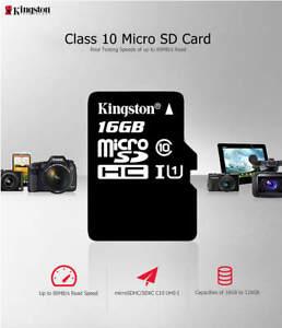 KINGSTON MICRO SD 8GB 16GB 32GB 64GB FLASH MEMORY CLASS10 MINI SD CARD FREE SHIP