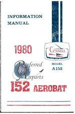 New 1980 Cessna A152 Aerobat Pilot Information Manual PN D1171-13
