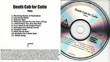 DEATH CAB FOR CUTIE Plans US 11-trk numbered/watermarked promo test CD