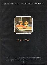 "OMD Crush UK magazine ADVERT / mini Poster 11x8"""