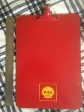 Shell Clipboard Vintage 1960's , Red background ,  yellow sign , A4 size