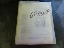Clark GPX35 GPX50 Forklift Parts Manual    2806048