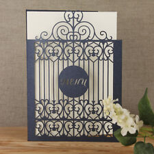 Lace Gate Laser Cut Menu/Order of Service Handmade Personalised