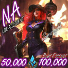 ❧ NA League of Legends LOL Account 50.000💖100.000 BE Unranked Smurf Level 30 ☙