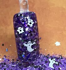 glitter mix acrylic gel nail Art  BOO~YAWH Halloween Mix