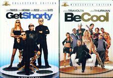 GET SHORTY 1-2: Be Cool- John Travolta- Rene Russo- Uma Thurman- NEW DVD's