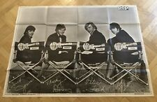 The Monkees 1966 Giant Poster Swedish Music magazine Vintage Mega Rare