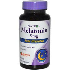 Natrol Melatonin 5mg Fast Dissolve Tablets 90ct Sleep Aid -Exp. Date 11-2019