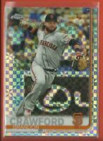 Brandon Crawford 2019 Topps Chrome XFRACTORS Refractor Card San Francisco Giants