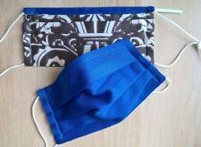 Stoff Maske Alltag leicht dünn Sommer Baumwolle 2 lag royal blau waschbar