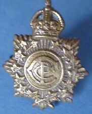 Badge- Canadian Postal Corps Cap Badge KC (All BRASS*) Non VOID