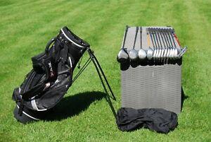 Full set  Men's Cobra Forgan golf clubs irons woods and putter and Ram bag