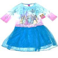 Disney Princess Girls Dress Blue Tulle Layered Skirt Size L XL 10 12 14 16 NWT