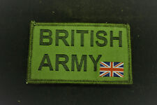 BRITISH ARMY + Small Union Flag- Morale Velcro Subdued Patch no996a