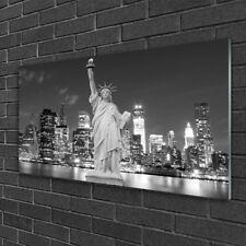 Glasbilder 100x50 Wandbild Druck auf Glas Freiheitsstatue New York Gebäude