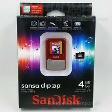 NEW * Sandisk Sansa CLIP ZIP MP3 Player RED 4GB Music Audio FM Radio SDMX22-004G
