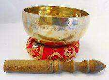 "F340N Energetic Root 'C' Chakra Healing 5"" Hand Hammered Tibetan Singing Bowl"