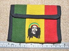 Rasta Colors Hemp Embroidred Rasta Man Wallet. Real Hemp ! Free Shipping in USA!