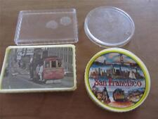 TWO DECKS PLAYING CARDS SAN FRANCISCO ROUND CABLE CARS SEALED NEW