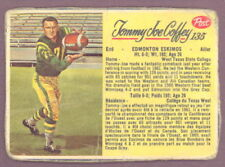 1963 POST CFL FOOTBALL 135 TOMMY JOE COFFEY VG EDMONTON ESKIMOS WEST TEXAS STATE