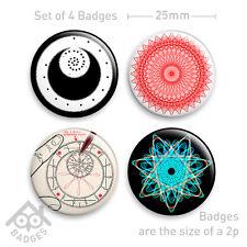 "SPIROGRAPH Vintage Box MINT Retro Toy - 1"" Badge x4 Badges NEW"