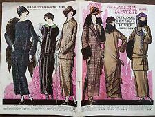 """CATALOGUE MODE """" AUX GALERIES LAFAYETTES"""" HIVER 1923 - 1924"""
