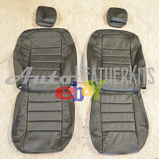 2006 - 2010 Dodge Charger Black Leather Seat Upholstery Covers KATZKIN NEW