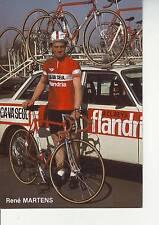 CYCLISME carte rené MARTENS  (equipe flandria ca va seul )  1979