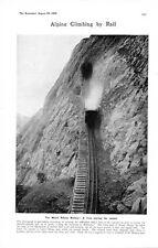 1905 PRINT MOUNT PILATUS RAILWAY ALPNACH LUCERNE ALPS