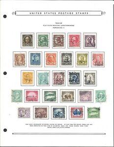 1922-1926 U.S. Presidents - Scott# 551-573 - Solid Used (hinged on page)