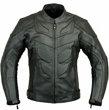 Batman Motorbike Leather Jacket Motorcycle Protection Armour L