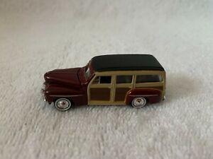 Mini Metals HO Scale '48 Ford Woody Burgundy #30107 loose