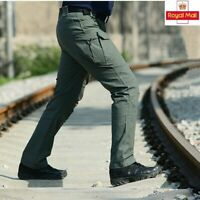 Men Tactical Pants Combat Quick Dry Lightweight Waterproof Cargo Casual Trousers