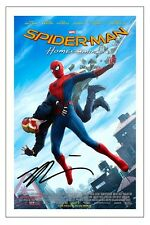 TOM HOLLAND SPIDER MAN HOMECOMING SIGNED PHOTO PRINT POSTER