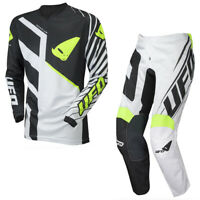 UFO Slim Fit Motocross Race Kit Pants and Shirt Combo Blue White ALL Sizes