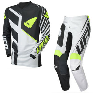 UFO Vanadium Motocross Race Kit Pants and Shirt Combo White - All Sizes