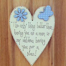 Unbranded Heart Mum Decorative Plaques & Signs
