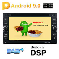 "Android 9.0 Double 2 Din 6.2"" Car Stereo DVD Player GPS Navigation DAB+ Stereo"