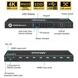 TESmart 4K 8x1 HDMI Switch 4K@60Hz Support 8 input 1output HDCP2.2