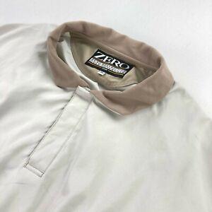 Zero Restriction Golf Men's 1/4 Snap Golf Pullover Wind/Rain Jacket Khaki • XL