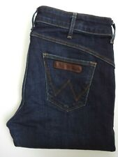 WRANGLER DREW JEANS WOMEN'S STRETCH STRAIGHT LEG W30 L32 DARK BLUE LEVQ160