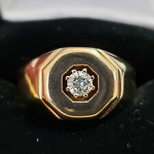 White Diamond Appraisal Included Wedding/Fashion 14Kt Mens Ring Yellow Gold .30