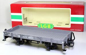 Spur G LGB 4110 Niederbordwagen Nw DR OVP